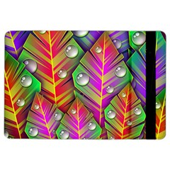Abstract Background Colorful Leaves Ipad Air 2 Flip