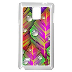 Abstract Background Colorful Leaves Samsung Galaxy Note 4 Case (white)