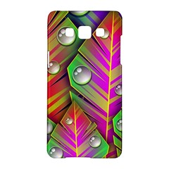 Abstract Background Colorful Leaves Samsung Galaxy A5 Hardshell Case  by Nexatart