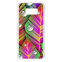 Abstract Background Colorful Leaves Samsung Galaxy S8 Plus White Seamless Case