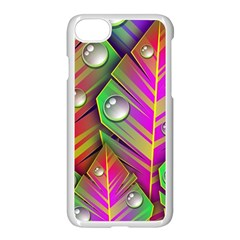 Abstract Background Colorful Leaves Apple Iphone 8 Seamless Case (white)