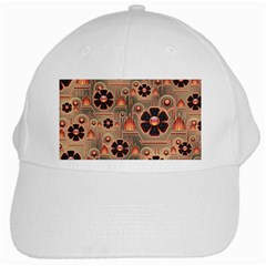 Background Floral Flower Stylised White Cap by Nexatart