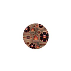 Background Floral Flower Stylised 1  Mini Magnets