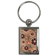 Background Floral Flower Stylised Key Chains (rectangle)