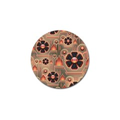Background Floral Flower Stylised Golf Ball Marker