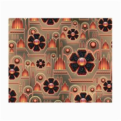 Background Floral Flower Stylised Small Glasses Cloth