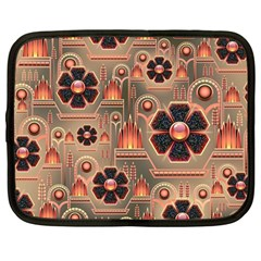 Background Floral Flower Stylised Netbook Case (large)