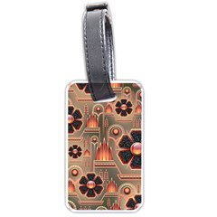 Background Floral Flower Stylised Luggage Tags (one Side)