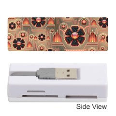 Background Floral Flower Stylised Memory Card Reader (stick)