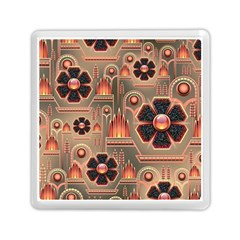 Background Floral Flower Stylised Memory Card Reader (square)  by Nexatart