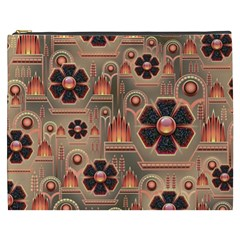 Background Floral Flower Stylised Cosmetic Bag (xxxl)