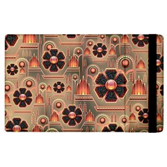 Background Floral Flower Stylised Apple Ipad 3/4 Flip Case