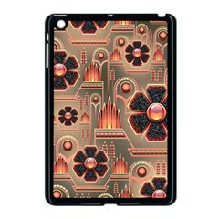Background Floral Flower Stylised Apple Ipad Mini Case (black)