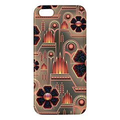 Background Floral Flower Stylised Apple Iphone 5 Premium Hardshell Case