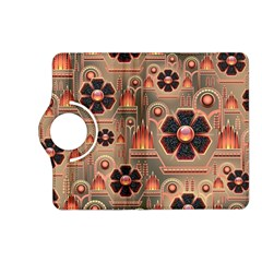 Background Floral Flower Stylised Kindle Fire Hd (2013) Flip 360 Case
