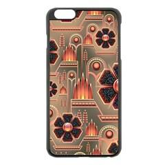 Background Floral Flower Stylised Apple Iphone 6 Plus/6s Plus Black Enamel Case