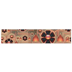 Background Floral Flower Stylised Small Flano Scarf