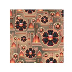 Background Floral Flower Stylised Small Satin Scarf (square)
