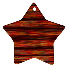 Colorful Abstract Background Strands Ornament (star)