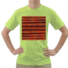 Colorful Abstract Background Strands Green T Shirt