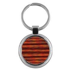 Colorful Abstract Background Strands Key Chains (round)