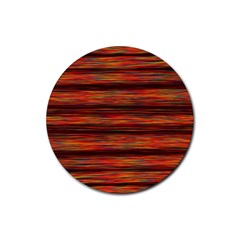 Colorful Abstract Background Strands Rubber Coaster (round)  by Nexatart