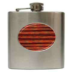 Colorful Abstract Background Strands Hip Flask (6 Oz)