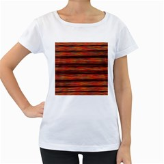 Colorful Abstract Background Strands Women s Loose Fit T Shirt (white)