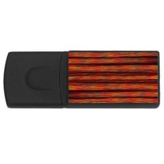 Colorful Abstract Background Strands Rectangular Usb Flash Drive