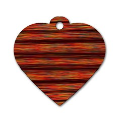 Colorful Abstract Background Strands Dog Tag Heart (two Sides)
