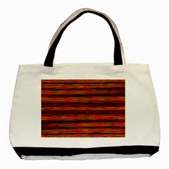 Colorful Abstract Background Strands Basic Tote Bag (two Sides)