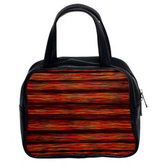 Colorful Abstract Background Strands Classic Handbags (2 Sides)