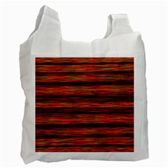 Colorful Abstract Background Strands Recycle Bag (one Side)