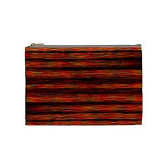 Colorful Abstract Background Strands Cosmetic Bag (medium)