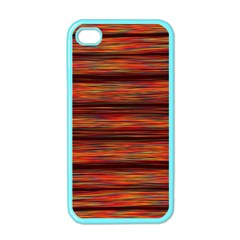 Colorful Abstract Background Strands Apple Iphone 4 Case (color)