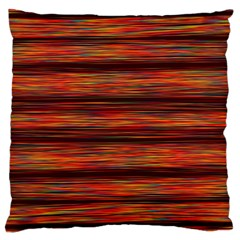 Colorful Abstract Background Strands Large Cushion Case (two Sides)
