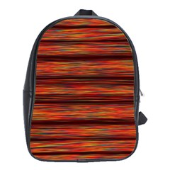 Colorful Abstract Background Strands School Bag (xl)