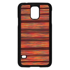 Colorful Abstract Background Strands Samsung Galaxy S5 Case (black)