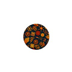 Pattern Background Ethnic Tribal 1  Mini Buttons by Nexatart