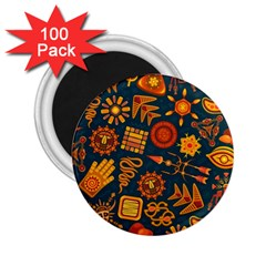 Pattern Background Ethnic Tribal 2 25  Magnets (100 Pack)
