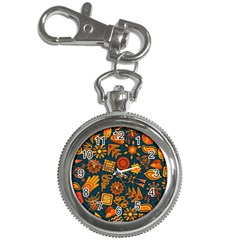 Pattern Background Ethnic Tribal Key Chain Watches