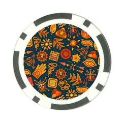 Pattern Background Ethnic Tribal Poker Chip Card Guard (10 Pack)