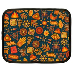 Pattern Background Ethnic Tribal Netbook Case (xxl)  by Nexatart