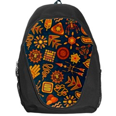 Pattern Background Ethnic Tribal Backpack Bag
