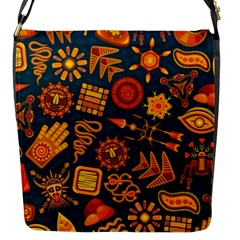 Pattern Background Ethnic Tribal Flap Messenger Bag (s)