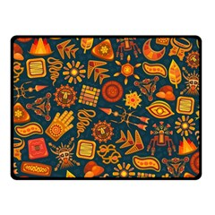 Pattern Background Ethnic Tribal Double Sided Fleece Blanket (small)  by Nexatart