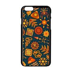 Pattern Background Ethnic Tribal Apple Iphone 6/6s Black Enamel Case