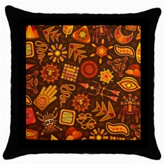 Pattern Background Ethnic Tribal Throw Pillow Case (black)