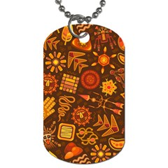 Pattern Background Ethnic Tribal Dog Tag (two Sides) by Nexatart