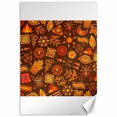 Pattern Background Ethnic Tribal Canvas 12  X 18